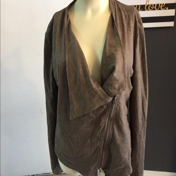 Miilla Clothing Jackets & Blazers - Lagenlook mystree Brown zip jacket stitch fix faux